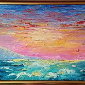 Картины и панно handmade. Livemaster - original item Seascape. oil painting 30/40cm. Handmade.