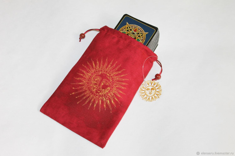 Эксклюзивный мешочек для карт Таро ручной работы, Чехлы, Москва, Фото №1