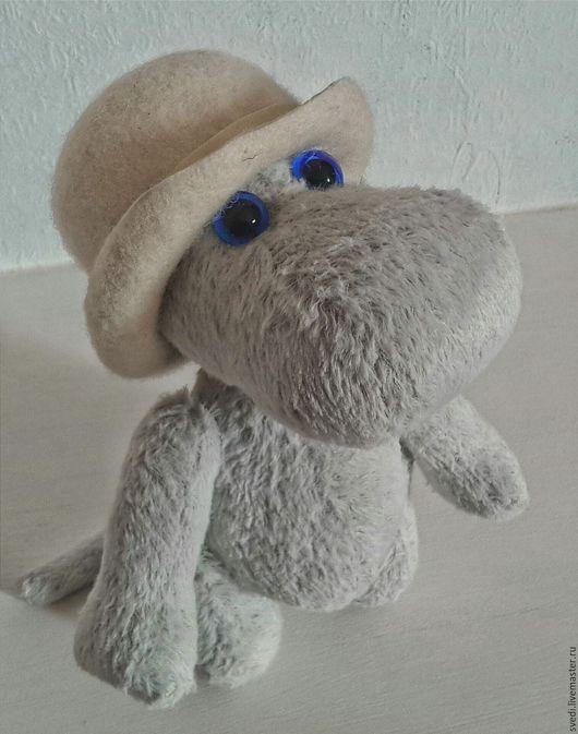 """Мишки Тедди ручной работы. Ярмарка Мастеров - ручная работа. Купить Бегемотик тедди """"Муми"""". Handmade. Голубой, бегемот тедди"""