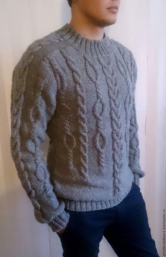 Для мужчин, ручной работы. Ярмарка Мастеров - ручная работа. Купить Мужской свитер Витая проволока. Handmade. Свитер