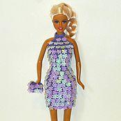 Куклы и игрушки ручной работы. Ярмарка Мастеров - ручная работа Вязаное платье для Барби Одежда для кукол Барби. Handmade.