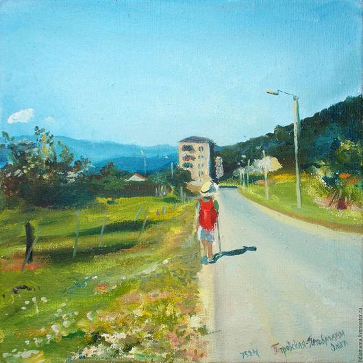 Абхазия. К горячему источнику работа Ольги Петровской-Петовраджи