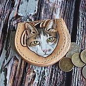 Сумки и аксессуары handmade. Livemaster - original item Coin box with kitty 2. Handmade.
