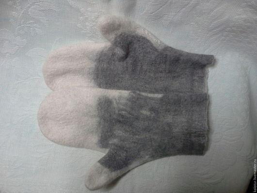 Варежки, митенки, перчатки ручной работы. Ярмарка Мастеров - ручная работа. Купить Варежки. Handmade. Белый, шерсть меринос
