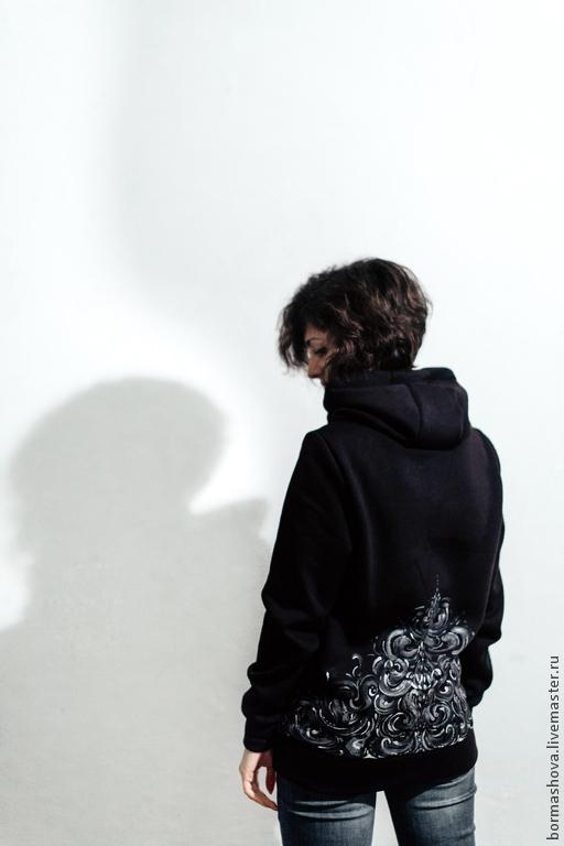 """Кофты и свитера ручной работы. Ярмарка Мастеров - ручная работа. Купить Свитшот """"On The Back"""". Handmade. Свитшот"""