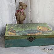 Для дома и интерьера ручной работы. Ярмарка Мастеров - ручная работа Шкатулка большая Teddy_1. Handmade.
