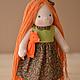 Вальдорфская игрушка ручной работы. Ярмарка Мастеров - ручная работа. Купить Вальдорфская кукла Лисичка. Handmade. Вальдорфская кукла, рыжий