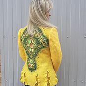 Одежда handmade. Livemaster - original item Felted jacket solar. Handmade.