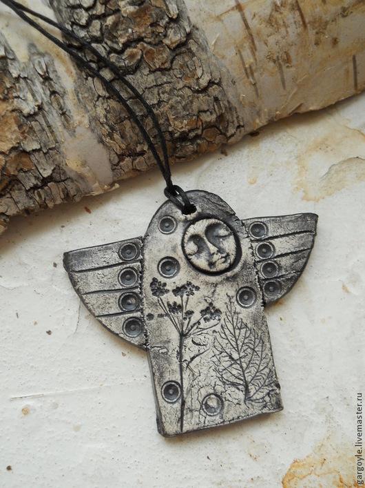 Кулоны, подвески ручной работы. Ярмарка Мастеров - ручная работа. Купить Полуночный Ангел. Handmade. Чёрно-белый, необычный