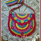 Работы для детей, ручной работы. Ярмарка Мастеров - ручная работа Красивая модная вязаная сумочка для девочки.. Handmade.