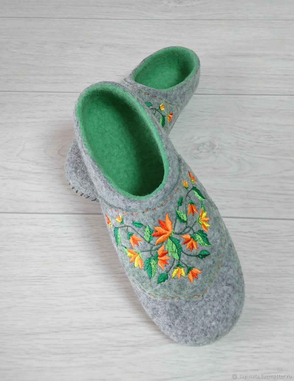 Обувь ручной работы. Ярмарка Мастеров - ручная работа. Купить Тапки валяные женские. Handmade. Тапочки женские валяные