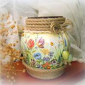 Для дома и интерьера ручной работы. Ярмарка Мастеров - ручная работа интерьерная ваза Полянка. Handmade.
