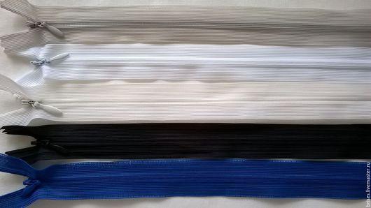 Шитье ручной работы. Ярмарка Мастеров - ручная работа. Купить Молния потайная 50 см  zip спиральная неразъемная. Handmade.