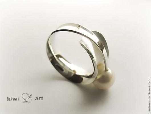 Ярмарка Мастеров, Kiwi Art Studio,кольцо из серебра, оригинальное кольцо, кольцо из серебра 925, кольцо серебро, кольцо серебро 925, кольцо из серебра купить, кольцо с жемчугом из серебра