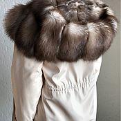 Одежда ручной работы. Ярмарка Мастеров - ручная работа Роскошная парка с куницей-каменкой. Handmade.