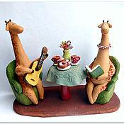 Куклы и игрушки ручной работы. Ярмарка Мастеров - ручная работа Если б чай жирафы пили.... Handmade.