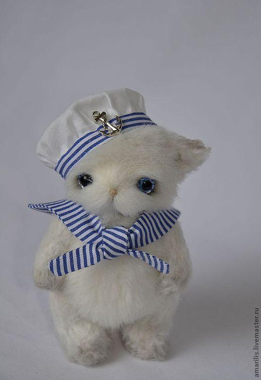 Мишки Тедди ручной работы. Ярмарка Мастеров - ручная работа. Купить Поль. Handmade. Котик, полоска, ручная работа