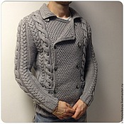 Одежда handmade. Livemaster - original item Cardigan mens. Handmade.