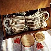 Посуда handmade. Livemaster - original item Set of ceramic mugs. Handmade.