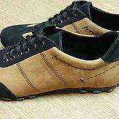Обувь ручной работы. Ярмарка Мастеров - ручная работа Кроссовки мужские из натуральной кожи. Handmade.
