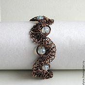 "Bead bracelet handmade. Livemaster - original item Copper bracelet ""Coil"". Handmade."