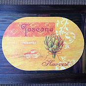 """Для дома и интерьера ручной работы. Ярмарка Мастеров - ручная работа Подставка для тарелки """"Тоскана"""". Handmade."""