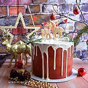 """Подарки ручной работы. Ярмарка Мастеров - ручная работа Торт """"Красный бархат"""" с шоколадными потёками. Handmade."""
