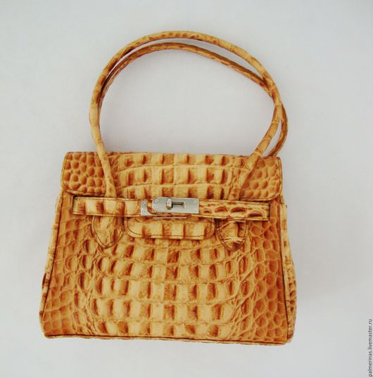 Женские сумки ручной работы. Ярмарка Мастеров - ручная работа. Купить Кожаная сумочка- имитация под кожу питона. Handmade.