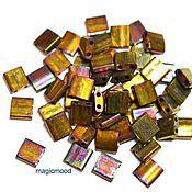 Материалы для творчества handmade. Livemaster - original item 5 grams Tila 462 gold iridescent Japanese seed beads Miyuki Miyuki. Handmade.
