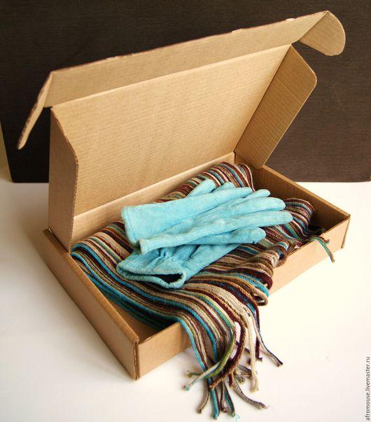 коробка `Простая-15` плоская  33х22х6 см