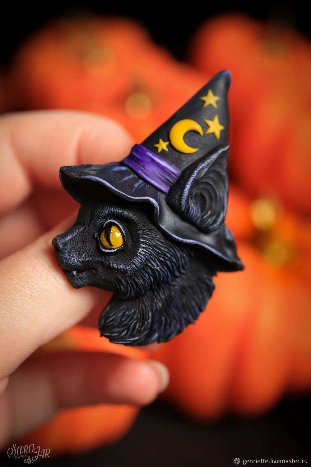 Brooch 'Cat witch', Brooches, Moscow,  Фото №1