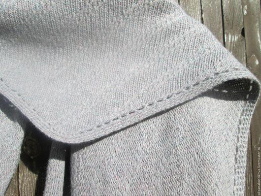 """Шали, палантины ручной работы. Ярмарка Мастеров - ручная работа. Купить Треугольный платок - шарф """"асфальт...""""   Ручная работа. Handmade."""
