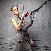 Одежда ручной работы. Ярмарка Мастеров - ручная работа Топ-трансформер-майка из хлопка. Handmade.