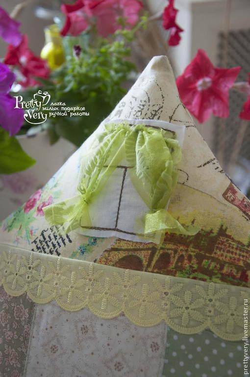Текстиль, ковры ручной работы. Ярмарка Мастеров - ручная работа. Купить Зелёный домик в деревне. Handmade. Салатовый, подушка декоративная