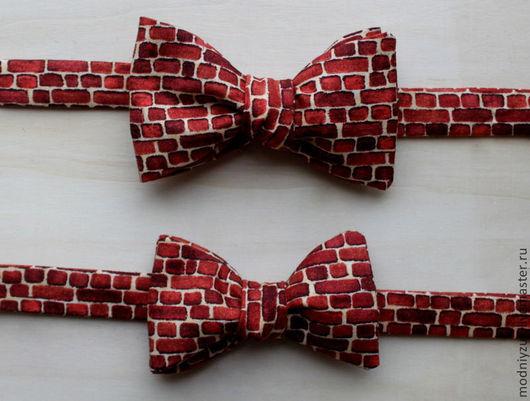 """Галстуки, бабочки ручной работы. Ярмарка Мастеров - ручная работа. Купить галстук-бабочка """"Модный Жук"""". Handmade. Коричневый"""