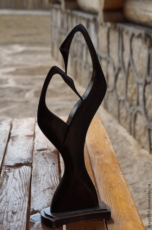 Элементы интерьера ручной работы. Ярмарка Мастеров - ручная работа. Купить Скульптура Журавли. Handmade. Черный, минимализм, подарок на новоселье