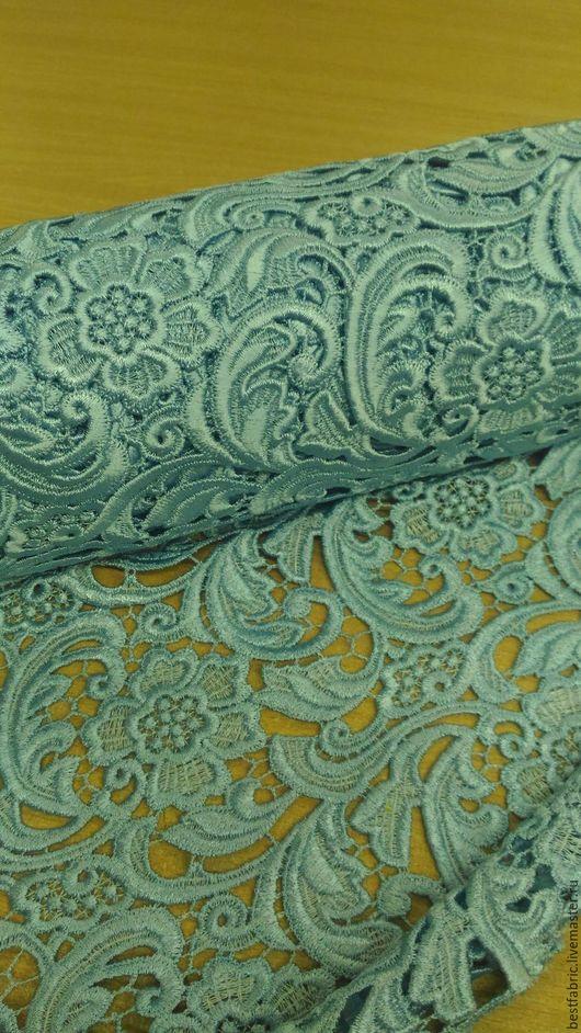 Шитье ручной работы. Ярмарка Мастеров - ручная работа. Купить кружевное полотно PRADA, Италия вискоза 100%. Handmade. Голубой