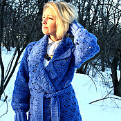 """Одежда ручной работы. Ярмарка Мастеров - ручная работа Вязаное пальто """"Небеса"""". Handmade."""