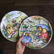 Винтаж handmade. Livemaster - original item Coalport collectible plates