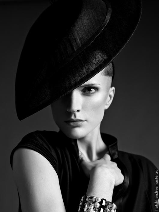 Шляпы ручной работы. Ярмарка Мастеров - ручная работа. Купить Шляпка черная Liliya Gureeva for Lookbook Slava Zaitsev fw14/15. Handmade.