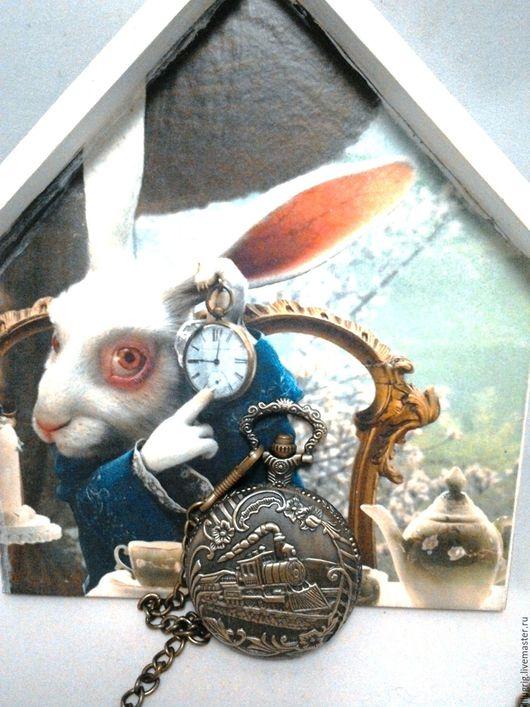 """Часы ручной работы. Ярмарка Мастеров - ручная работа. Купить Часы карманные """"Паровоз"""". Handmade. Часы, стимпанк, винтаж"""