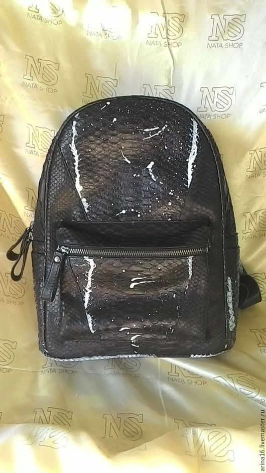 Рюкзаки ручной работы. Ярмарка Мастеров - ручная работа. Купить Рюкзак из питона. Handmade. Черный, рюкзачок, рюкзак городской