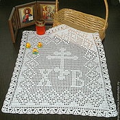 Для дома и интерьера ручной работы. Ярмарка Мастеров - ручная работа Пасхальное полотенце, пасхальная салфетка, пасха, пасхальный декор. Handmade.