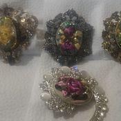 Комплекты украшений ручной работы. Ярмарка Мастеров - ручная работа Браслеты, броши , кольца - с вышивкой. Handmade.