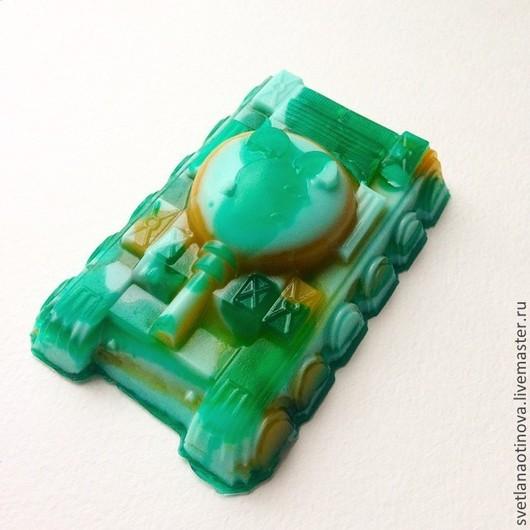 """Мыло ручной работы. Ярмарка Мастеров - ручная работа. Купить Мыло """"Танк"""". Handmade. Хаки, танкист, для танкиста, 23 февраля"""
