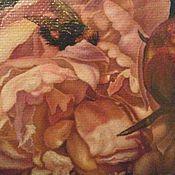 Картины и панно handmade. Livemaster - original item Oil painting Hard on the peony. Handmade.