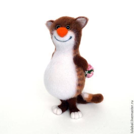 Игрушки животные, ручной работы. Ярмарка Мастеров - ручная работа. Купить Кот с подарками. Валяная игрушка.. Handmade. Кот