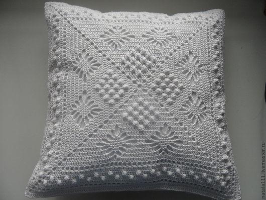 Текстиль, ковры ручной работы. Ярмарка Мастеров - ручная работа. Купить Подушка декоративная вязаная крючком. Handmade. Подушка