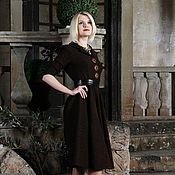 Одежда ручной работы. Ярмарка Мастеров - ручная работа Платье теплое из жаккарда. Handmade.