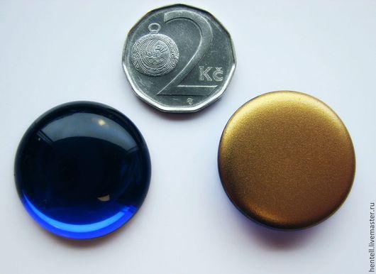 Для украшений ручной работы. Ярмарка Мастеров - ручная работа. Купить Кабошон круглый 25 мм. Чешское стекло. Handmade.
